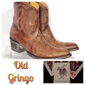 Old Gringo Ankle Bootie Western Boot Cowboy Sz 7